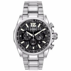 Citizen Eco-Drive Men's CA4170-51E Shadowhawk Chronograph Black Dial Watch