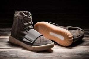 Details about Adidas Yeezy Boost 750 Chocolate BY2456 Size 9.5 100% Authentic Light Brown Gum