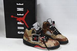 14435a7e7e3f77 Nike Air Jordan Retro 5 V x Supreme Desert Camo Shoes US Size 11 ...
