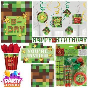 tnt boys birthday minecraft party pixel tableware supplies balloons