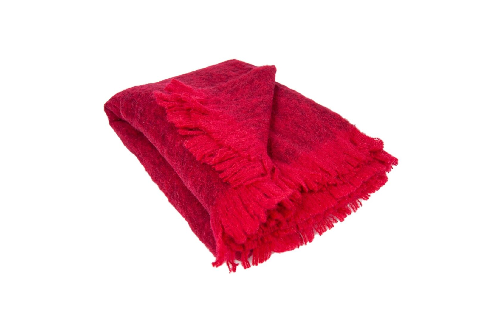 Australian Alpaca Connection Throw Brushed Wine Ruby