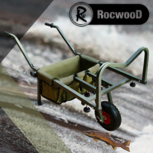 Fishing Trolley Pneumatic Wheel Folding Barrow Cart with Bag Adjustable Legs