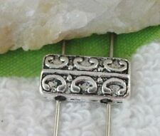 70pcs Tibetan silver 2 holes square spacer beads FC9215