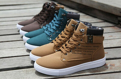 2017 Hot Men Shoes Fashion Spring Autumn Leather Shoe For Men Casual High Top