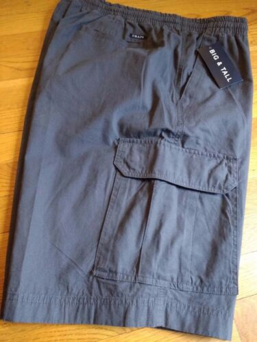 Mens 100/% Cotton Chaps Elastic Waistband Pull On Cargo Shorts NWT $72