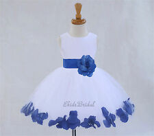 White Dressy Flower Girl Pageant Everyday Dresses All Seasons Casual 2-12 Years