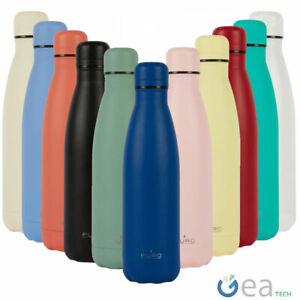 Puro Bottiglia Termica ICON 500ml Acciaio Doppio Strato Borraccia Effetto Sabbia