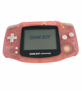 Nintendo Game Boy Advance AGB-001 Pink Clear -Missing Battery Cover-