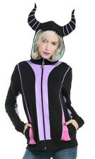 Disney Sleeping Beauty Maleficent Horns Cosplay Zip Hoodie Size XL NWT!