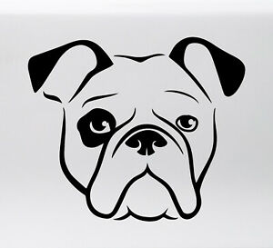 Details about BULLDOG HEAD Vinyl Sticker -V1- English American Bully Dog  Puppy - Die Cut Decal