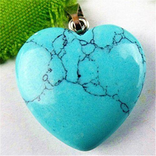 BA5668 20x6mm Beautiful heart Turquoise pendant bead