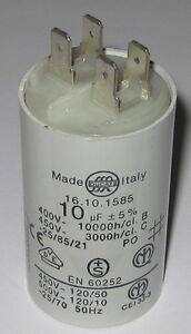 Ducati-10-uF-Capacitor-400-450-VAC-16-10-1585-Italy-36mm-x-60mm-Dia