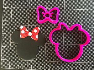 Minnie Mouse Bow Cookie Cutter Fondant Cutter Cupcake Topper