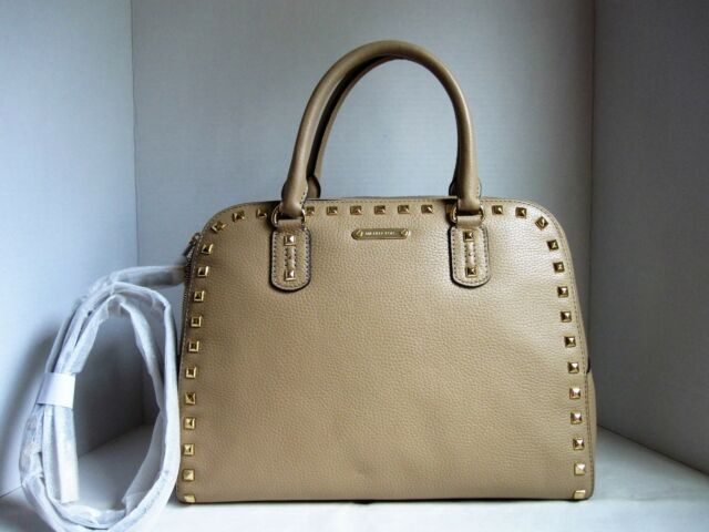 1f831d3faf08 Michael Kors Sandrine Stud Leather Satchel Shoulder Bag Purse Women ...