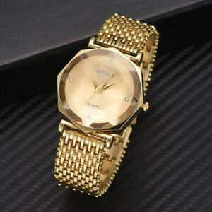 cdc7055fc Women Ladies Luxury Dress Watch Steel Band Quartz Analog Diamond ...