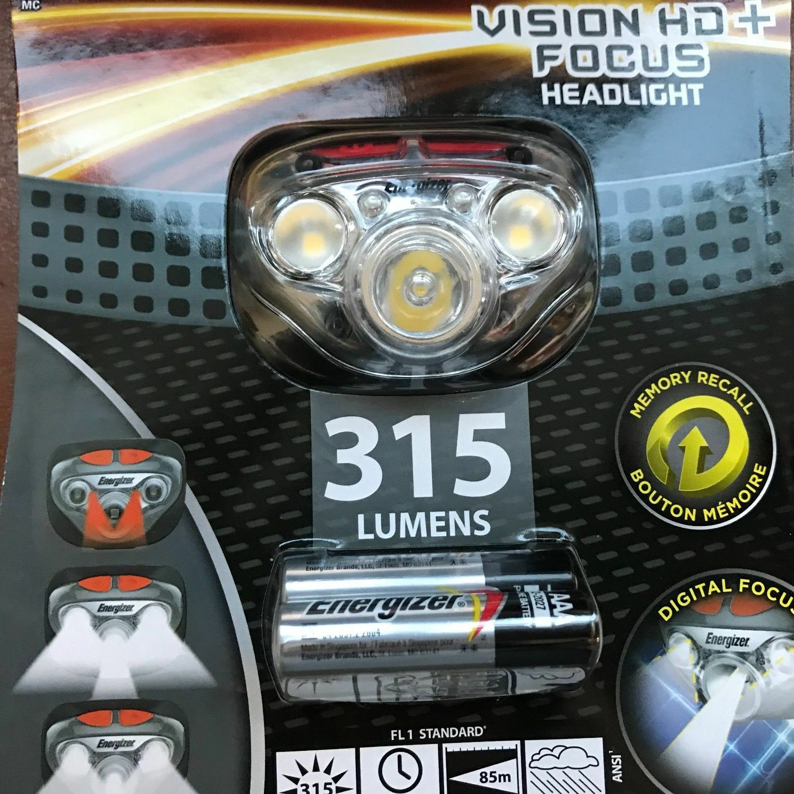 NEUF ENERGIZER vision HD + Focus Torche Phare DEL Avec Max 3 AAA Max Avec piles acfe3e