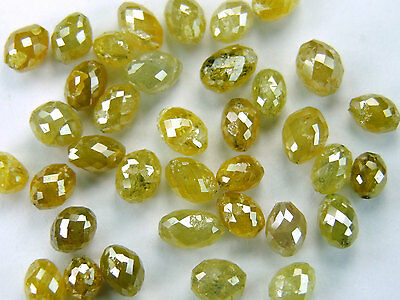 Natural loose Diamond Long Drilling Egg Shape Fancy Yellow Color I3 Clarity 1.00 Ct Lot Q56
