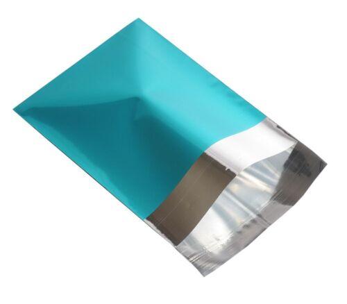 """Metallico Turchese FOIL mailing BAGS 14 x 16 /"""" 350 x 400 mm Scegli Q.tà"""