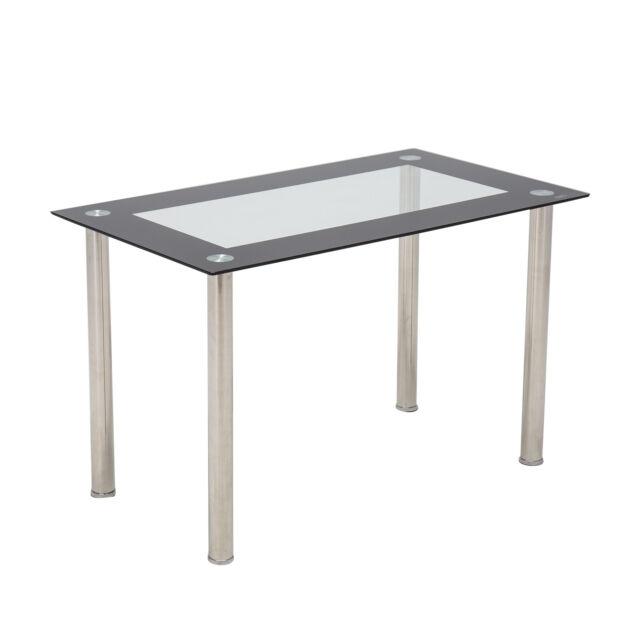 Modern Glass Rectangular Dining Table Breakfast Kitchen Dining Room  Furniture