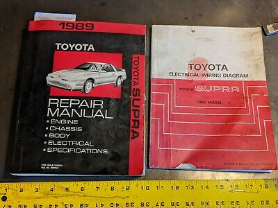 1989 toyota supra repair manual  electronics diagram 7mgte r154 7m w58   ebay