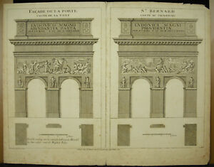 Ch-L-Simonneau-Fascia-of-the-Door-Saint-Bernard-Paris-Landmarks-in-print-c1720