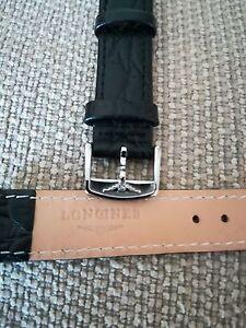 cinturino in vera pelle nera, marcato Longines, swiss made ansa da 18mm - Italia - cinturino in vera pelle nera, marcato Longines, swiss made ansa da 18mm - Italia