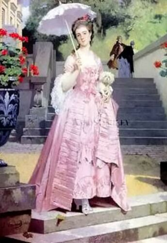 Midday Stroll~counted cross stitch pattern #1213~People Victorian Lady Chart