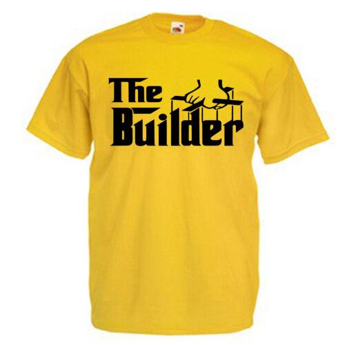 Builder Adults Mens T Shirt 12 Colours Size S 3XL