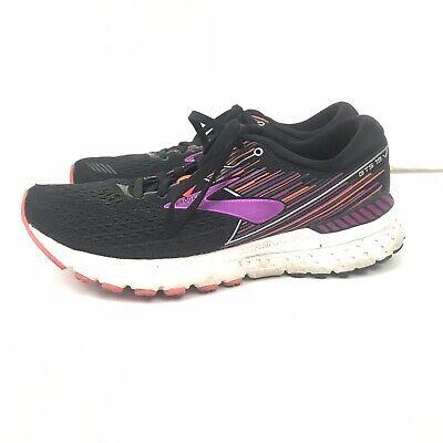 New Womens Brooks Adrenaline GTS 19 Running shoes 5 6.5 Black//Purple//Coral 5.5