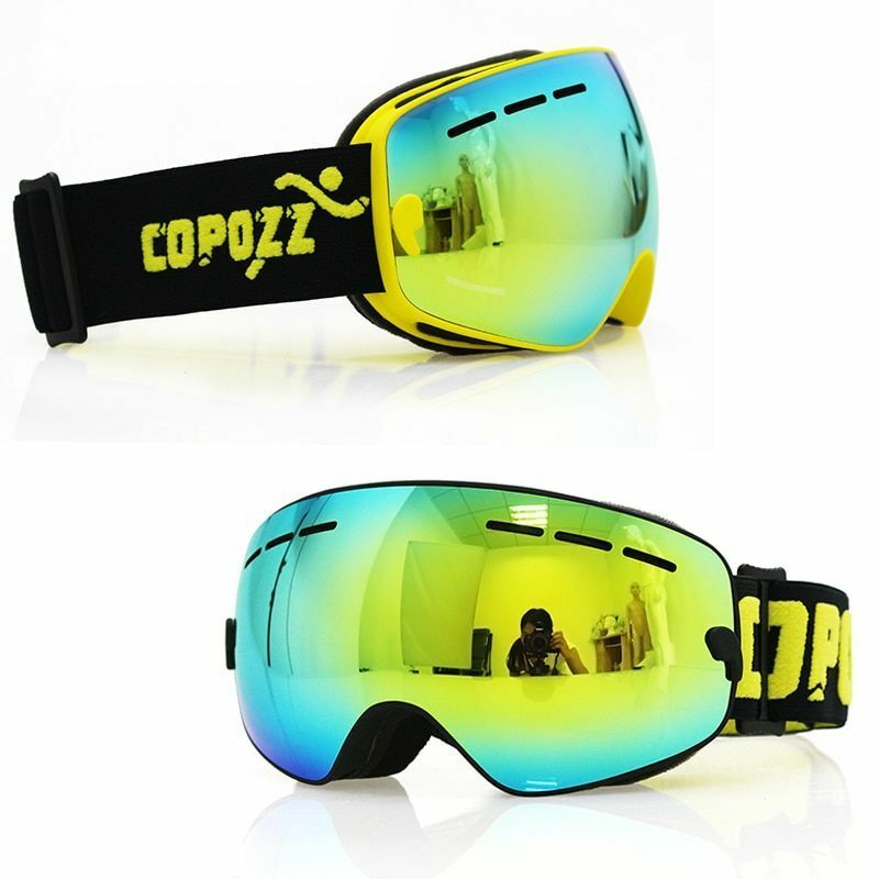 Ski Goggles Kids Snowboard Lens Anti Fog Youth Snow Dual Uv Predection Pouch New