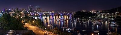 KNOXVILLE TENNESSEE SKYLINE CITYSCAPE POSTER PRINT 11x36 HI RES 9MIL PAPER