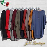 Italian Lagenlook Tunic Dress Top Blouse Plus Size 14 16 18 20 22 24 26 28 30