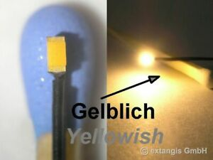 SMD-LED-0603-SUPER-GOLDEN-WHITE-GELBLICH-Litze-yellowish-warm-colour-litz-wire