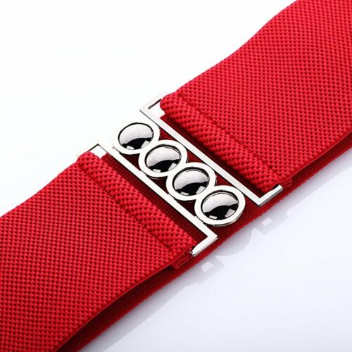 4 Clasp Style 3 Inch Wide Elastic Corset Waist Belt womens ladies girls fashion