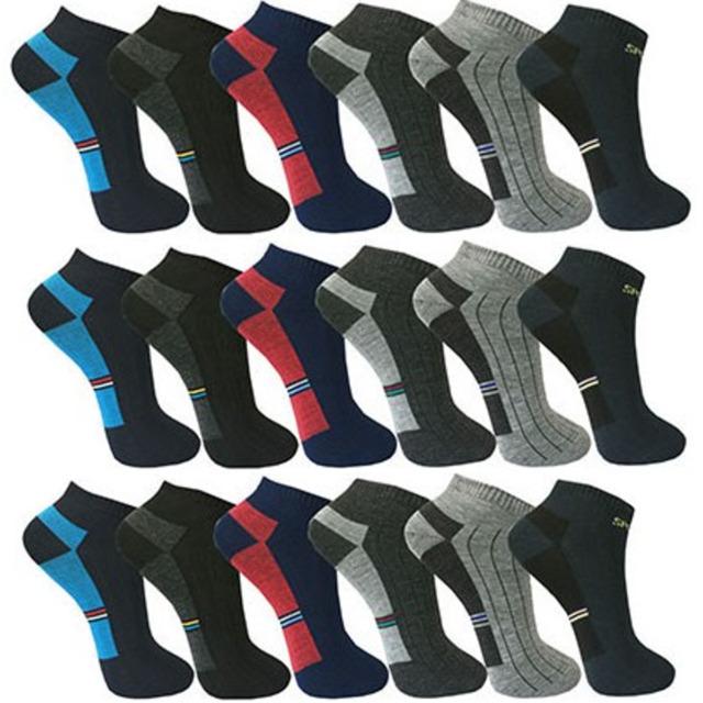 12 PAAR Socken Sneaker Herren Socken Damen Sport Freizeit Kurz 43 - 46 Neu.4025.