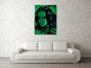 Motiv Romy Schneider Vintage Green 150x100 cm Alu Dibond//Druck//City//Urban//Loft