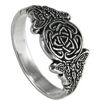 Celtic Knot Fairy Ring Ss Sterling Silver Goddess Triscele Sidhe Faerie Sz 4-12