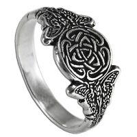 Celtic Knot Fairy Ring Ss Sterling Silver Goddess Triscele Sidhe Faerie Sz 4-12