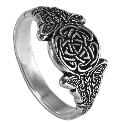 Sizes 4-12 Celtic Knot Fairy Ring Sterling Silver Goddess Faerie Knotwork