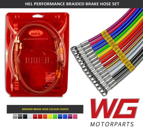HEL Braided Brake Line Kit for Skoda Fabia Mk3 1.2 TSI 2017+ Models