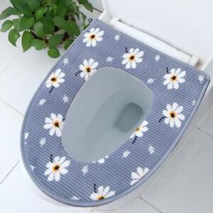 Bathroom-Toilet-Seat-Closestool-Washable-Soft-Warmer-Mat-Cover-Pad-Cushion-G