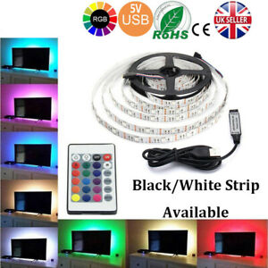 2M-5V-SMD5050-RGB-LED-Strip-Light-Waterproof-IR-Remote-Controller-TV-PC-Cabinet