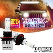 160W 16000LM PHILIPS LED headlight Kit COB H13 9008 Hi/Lo beam 6500K White bulbs
