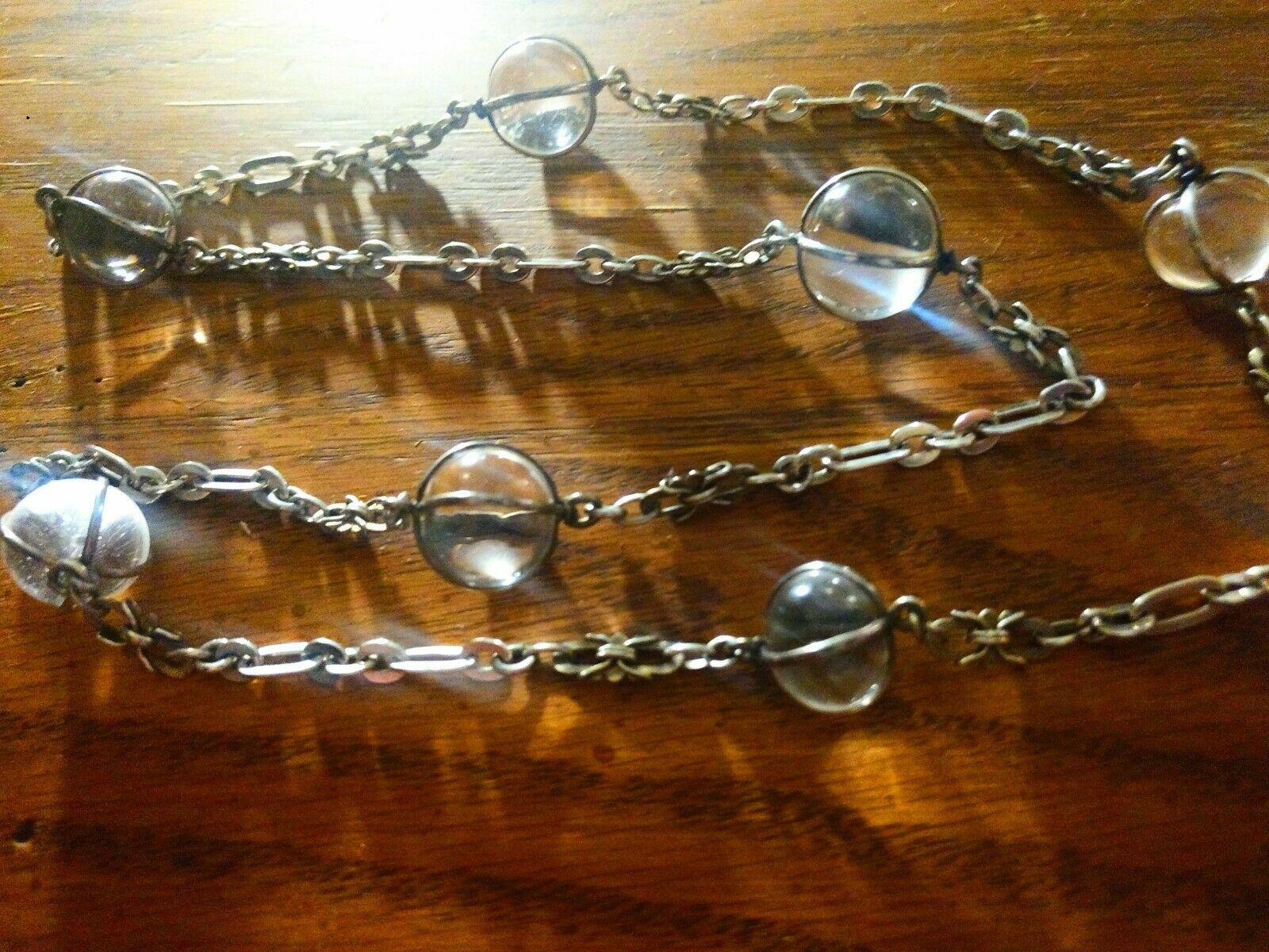 """Antique art deco """"Pools of Light"""" crystals and ch… - image 3"""