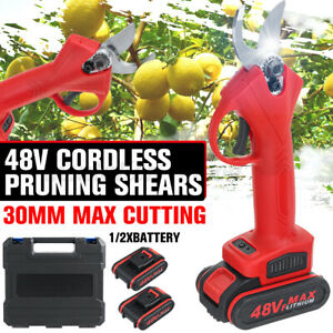 48V Cordless Electric Branch Scissors Pruning Shear Pruner Cutter Tool Trimmer