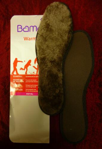 Bama Warm Royal Schaffellsohle Fell Einlage Einlegesohle für starke Kälte
