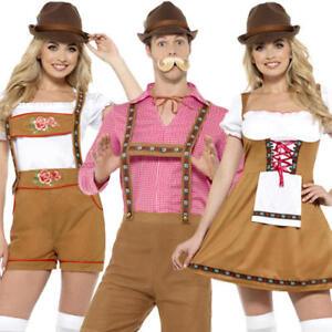 b1a5393e57d Details about Bavarian Adults Fancy Dress Oktoberfest German Beer Festival  Womens Mens Costume