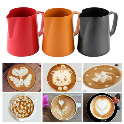 Milk Frothing Jug Stainless Steel Frother Coffee Latte Art Container Pitcher
