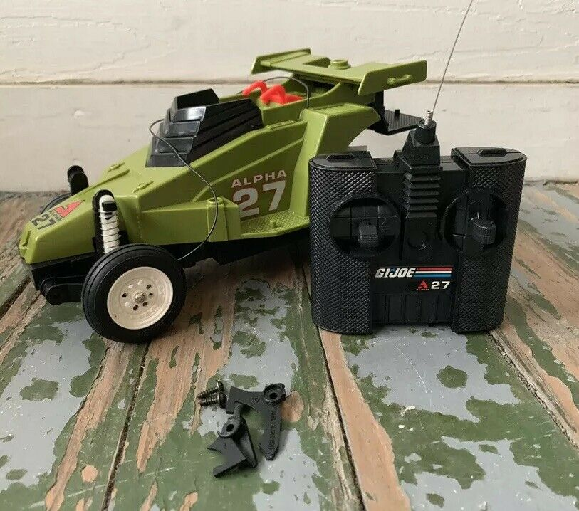 1987 GI JOE CROSSFIRE ALPHA 27  RADIO CONTROLLED DAMAGE REPAIR PARTS  vendita online