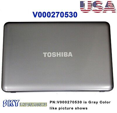 "NEW Toshiba Satellite C855 C855D LCD Back Cover 15.6/"" V000270530 Black W Hinges"
